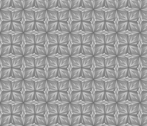 templar_cross_prism_gray fabric by glimmericks on Spoonflower - custom fabric