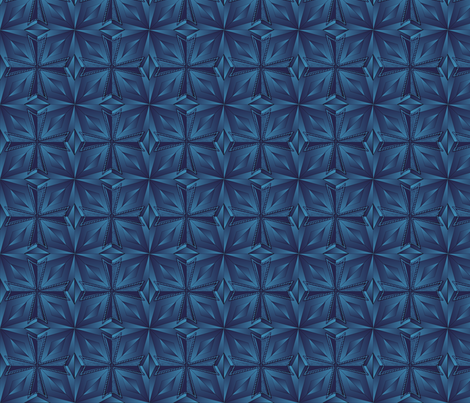 templar_cross_prism_blue fabric by glimmericks on Spoonflower - custom fabric