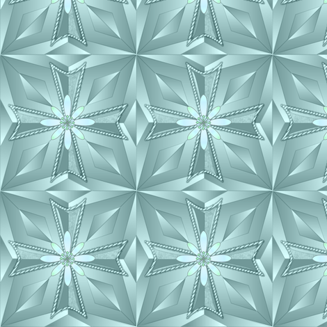 templar_cross_prism_ice_flower fabric by glimmericks on Spoonflower - custom fabric