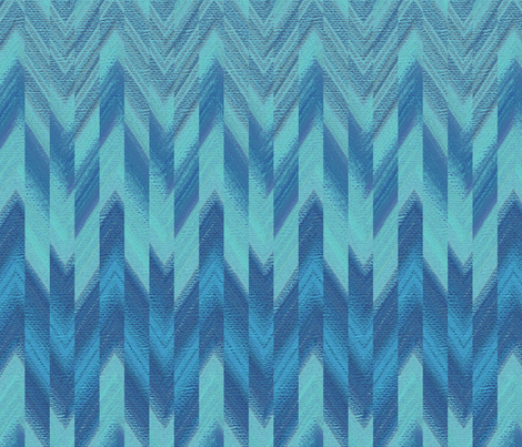 broken chevron blue fabric by weavingmajor on Spoonflower - custom fabric