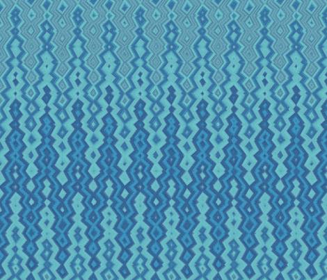 diamond chevron blue fabric by weavingmajor on Spoonflower - custom fabric