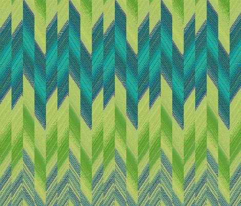 broken chevron green fabric by weavingmajor on Spoonflower - custom fabric