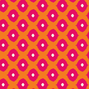 ikat - moroccan eyes orange & fushia