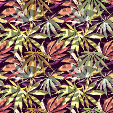 Camo Leaf Fall Shadow (R) fabric by camomoto on Spoonflower - custom fabric