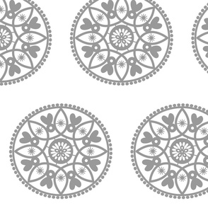 grey paper doily