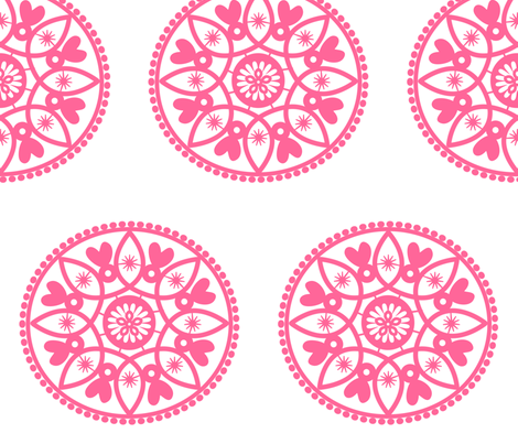 pink paper doily fabric by stickelberry on Spoonflower - custom fabric