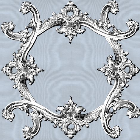 Rococo Swag ~ Versailles Fog ~ Moire fabric by peacoquettedesigns on Spoonflower - custom fabric