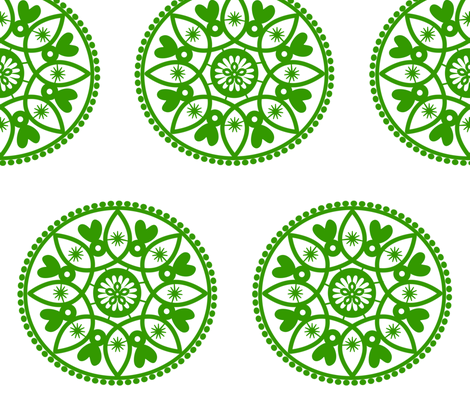 green paper doily fabric by stickelberry on Spoonflower - custom fabric