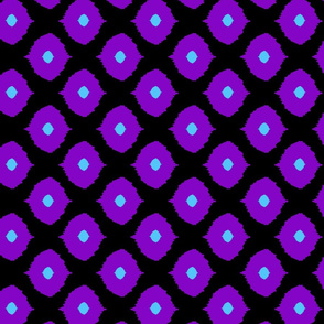 Ikat Moroccan eyes black & grape