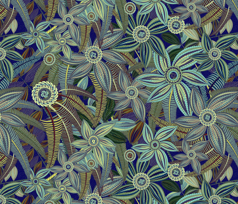 floral magic fabric by kociara on Spoonflower - custom fabric