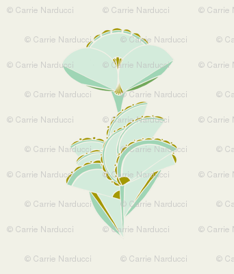 Geometric floral in mint