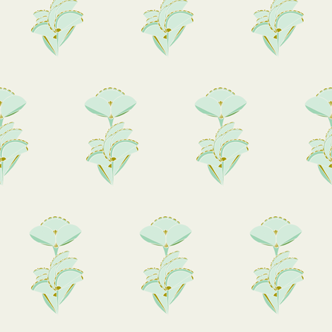 Geometric floral in mint fabric by carrie_narducci on Spoonflower - custom fabric