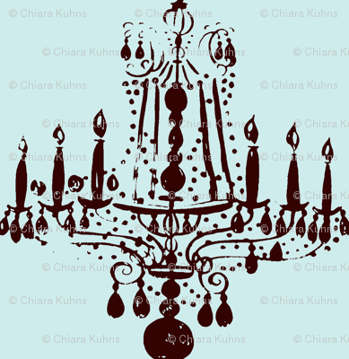 035-ed Chandelier in blue