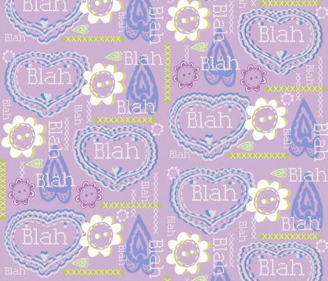 Valentines is...all Blah! Blah! Blah! fabric by slumbermonkey on Spoonflower - custom fabric