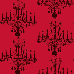 035-ed Chandelier in Valentino Red-ch