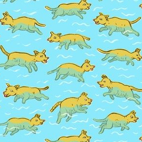 Doggy Paddling Pups | Blue