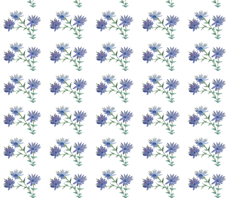Fresh Daisy Blue fabric by suechisholm on Spoonflower - custom fabric