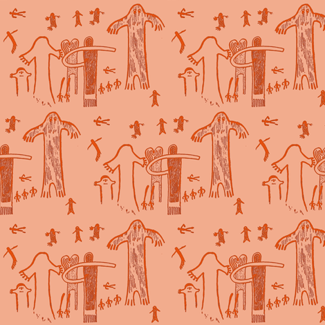 ancient evidence light fabric by keweenawchris on Spoonflower - custom fabric