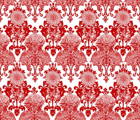 chrysanthemum damask fabric by artytypes on Spoonflower - custom fabric