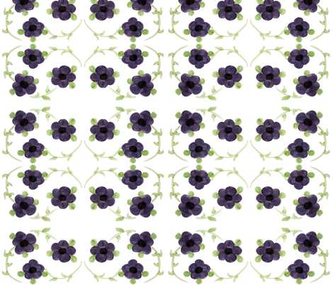 Large Purple Flowers fabric by suechisholm on Spoonflower - custom fabric