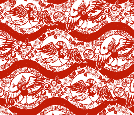 The Nightingale fabric by mariaspeyer on Spoonflower - custom fabric