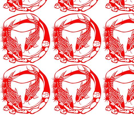 chinesefish fabric by suziwollman on Spoonflower - custom fabric