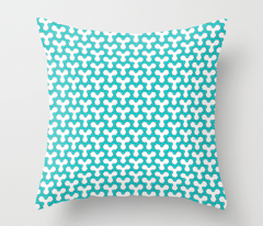 Cyan Triangles on White