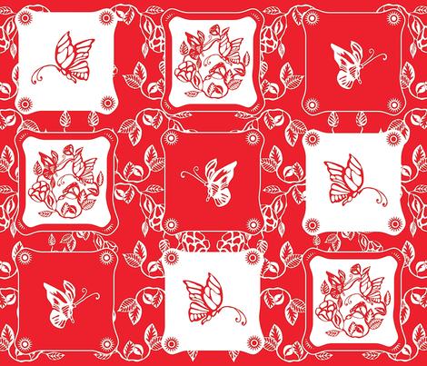 Chinoiserie_Papercut fabric by yasminah_combary on Spoonflower - custom fabric