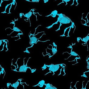 Ungulates black/aqua