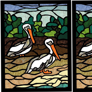 Pelican Stained Glass Panels