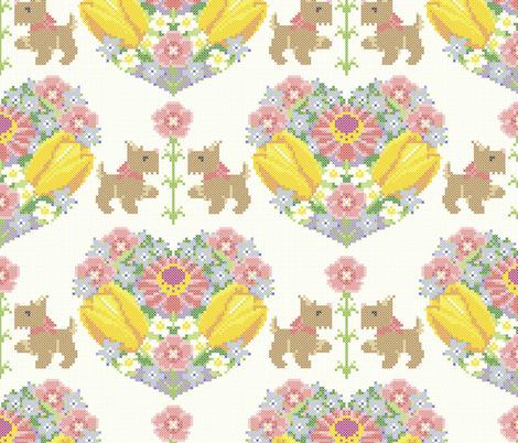She loves me, she loves me not! fabric by moirarae on Spoonflower - custom fabric