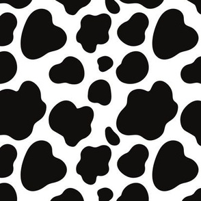 Cow Pattern. Black spots on white.