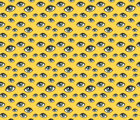 eyes pattern fabric by kostolom3000 on Spoonflower - custom fabric