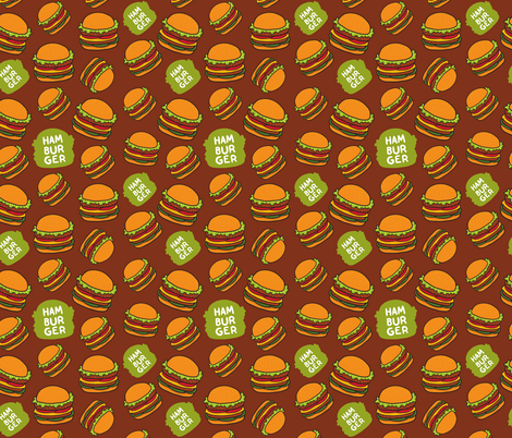 hamburger patten fabric by kostolom3000 on Spoonflower - custom fabric