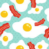 egg bacon pattern