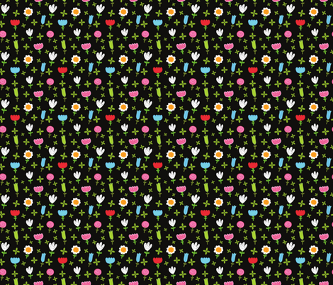 flower pattern fabric by kostolom3000 on Spoonflower - custom fabric