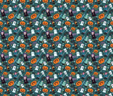 Halloween pattern fabric by kostolom3000 on Spoonflower - custom fabric