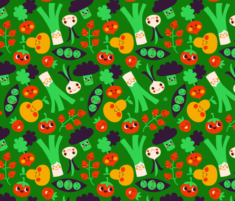 vegetables fabric by bora on Spoonflower - custom fabric