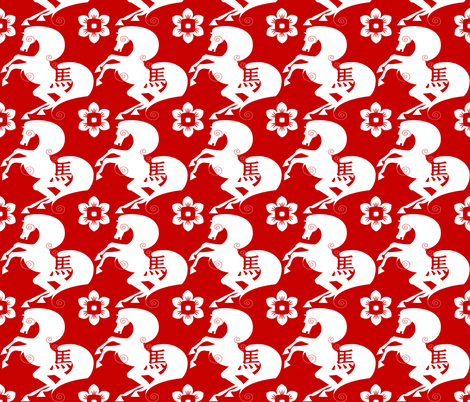 horse-pattern fabric by xbalanque on Spoonflower - custom fabric