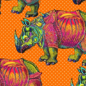 RHINOCEROS on Dotty Orange