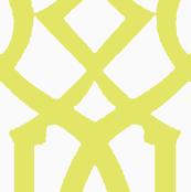 Imperial Trellis-Citron/White-Reverse-Large