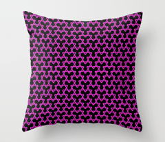 Hot Pink Triangles on Black