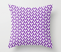 Purple Triangles on White