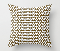 Brown Triangles on White