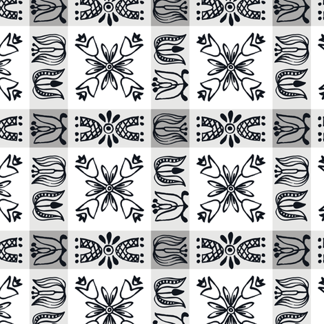 Dutch Check - gray fabric by sara_smedley on Spoonflower - custom fabric