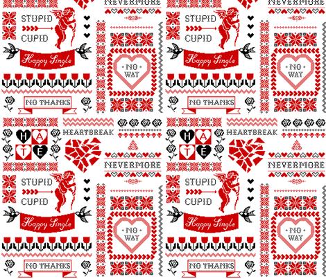 Stupid Cupid fabric by mirabelleprint on Spoonflower - custom fabric