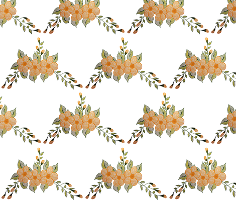 Sweet Peach Butter Floral fabric by suechisholm on Spoonflower - custom fabric