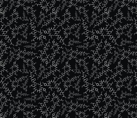 Oxytocin (B&W) fabric by studiofibonacci on Spoonflower - custom fabric