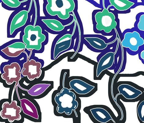 0-flower_107n fabric by soobloo on Spoonflower - custom fabric
