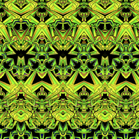 The Emerald City fabric by whimzwhirled on Spoonflower - custom fabric